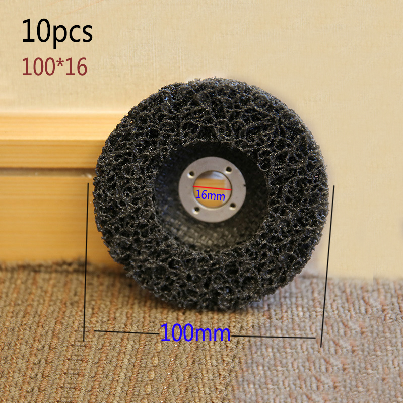 10pcs Abrasive Tools Strip Disc 46 Grit Wheel Paint Rust Removal Clean For Angle Grinder 100*16mm