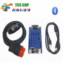 Nueva VCI TCS CDP + PRO Plus 2015R3/2014R2 con Keygen activador con Bluetooth para Coches + Camiones tcs cdp Auto OBD2 diagnostic herramienta