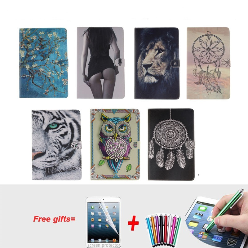 Fashion Painted Cover For iPad Air 2 Case Pu Leather Flip Case for iPad Air 2 Cover for iPad 6 with Stand Holder and Card Slot