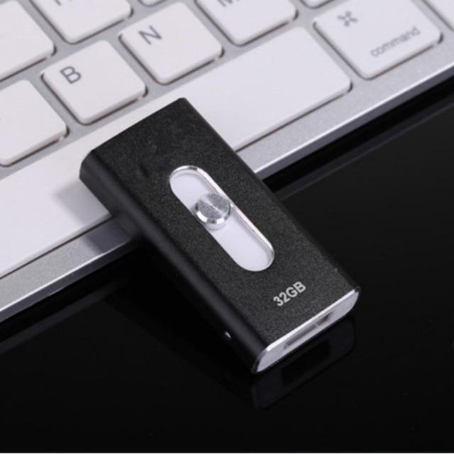 Micro Drive 8 gb 16 gb 32 gb 64 gb Usb flash Pen Drive de Metal/OTG Usb Unidad i-flash Para iPhone 5/5S/5c/6/6 Plus/ipad ipod Pendrive regalos