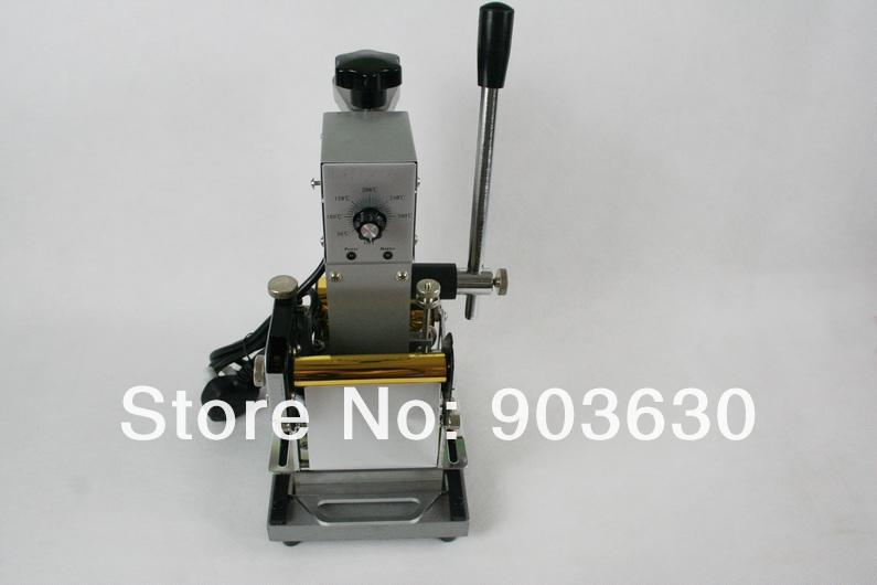 100% NEW MANUAL HOT PRESS FOIL STAMPING MACHINE FOR PVC CARD,HOT FOIL STAMPER PRINTEING MACHINE (220V OR 110V)+2FREE FOIL PAPER