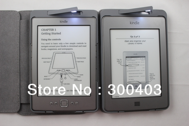 New Arrival! Amazon Kindle LED Lighted Leather Cover Case
