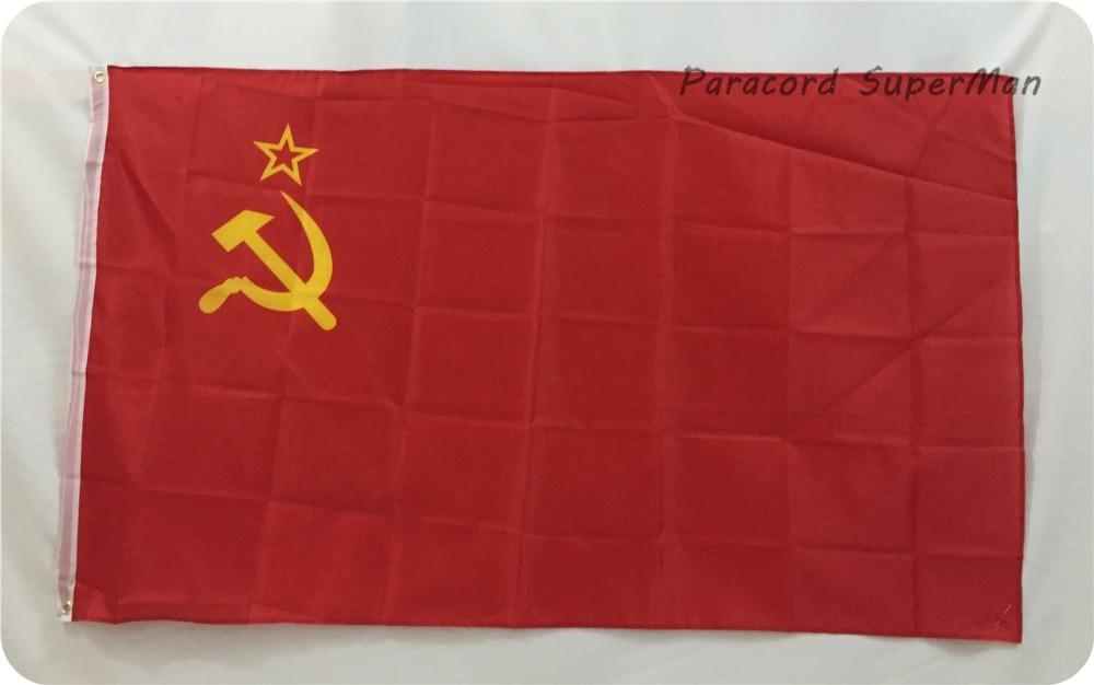 Qırmızı qadağan SSRİ Banner SOVIET Birliyi FLAG Rus İnqilabı - Komanda idman növləri - Fotoqrafiya 3