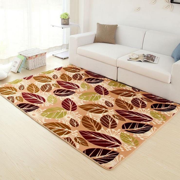 Pastoral Rugs And Carpets For Living Room Coral Velvet Bedroom Floor Mat Coffee Table Area Rug Anti Slip Dining Carpet In From Home Garden On
