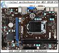 Frete grátis original motherboard para msi h81m-p33 lga 1150 ddr3 capacitor sólido frete grátis