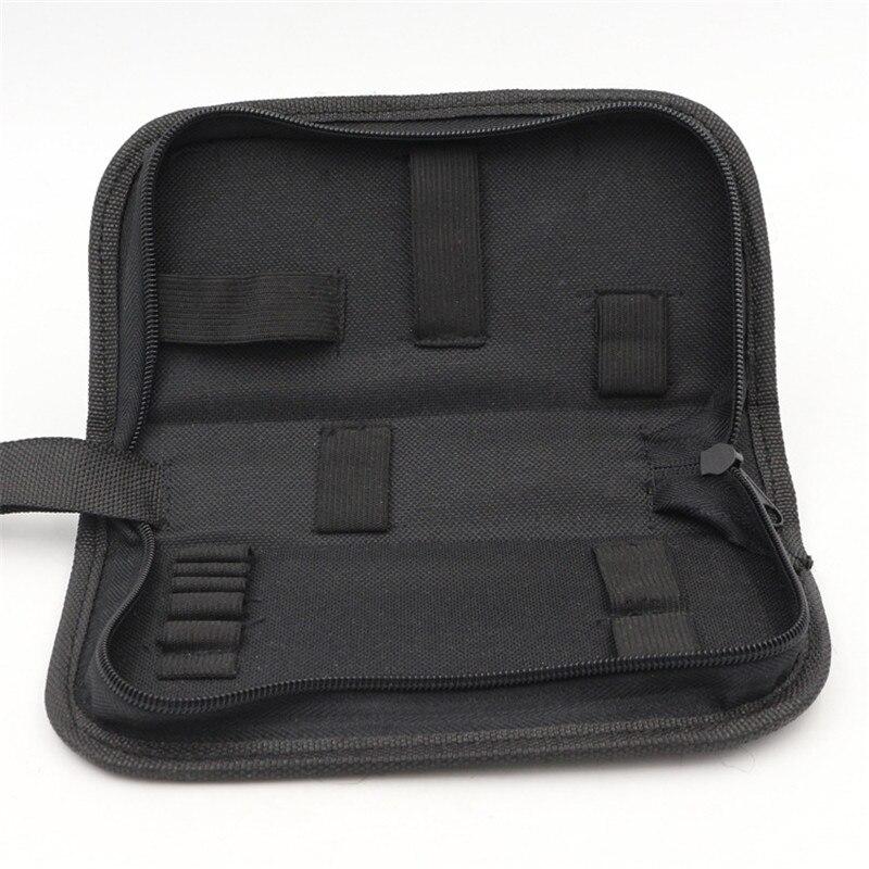 Black Multi-functional Canvas Watch Repair Portable Tool Bag Zipper Storage