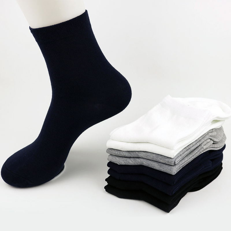 2017 Fashion Solid Color Women Men Brand Classical Shot Cotton Black Business Casual Sweat Comfortable Breathable Men's   Socks