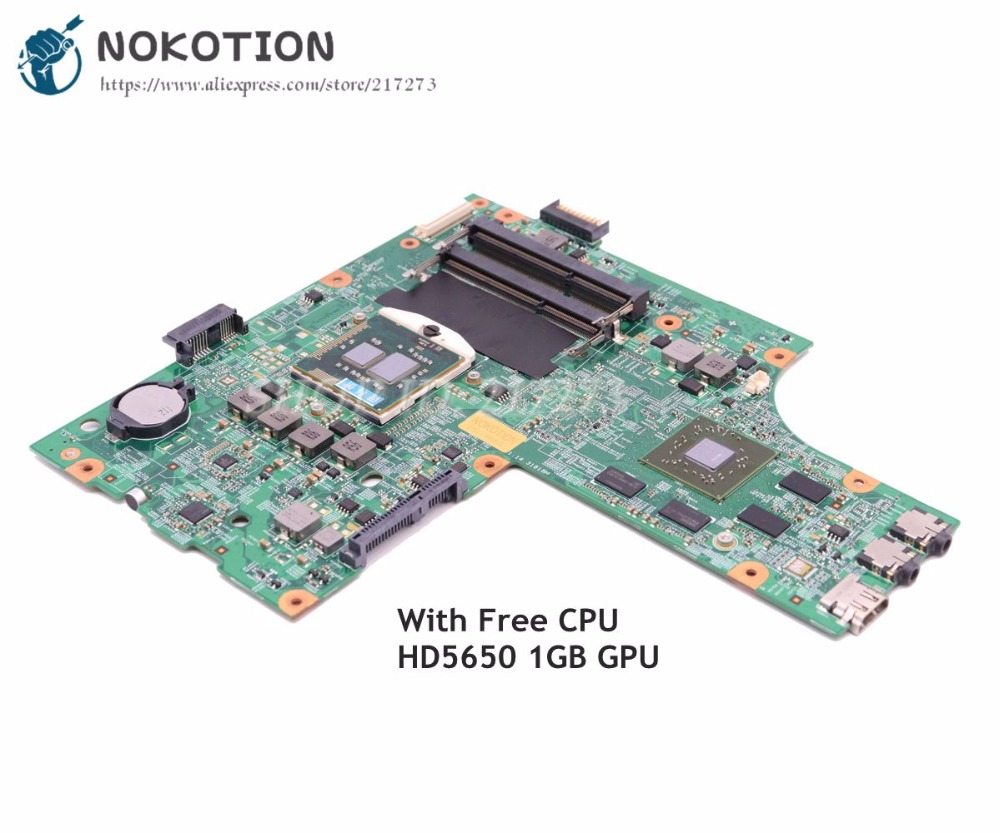NOKOTION CN-052F31 052F31 52F31 Laptop Motherboard For Dell Inspiron 15R N5010 Main Board 48.4HH01.011 HM57 HD5650 graphics 1GB