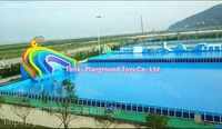 hot sale giant inflatable water slide with pools swimming ball toys pools frame swimming pool