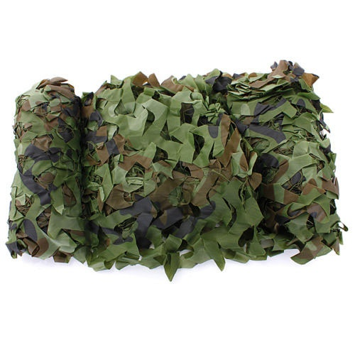 7m X 1.5m Woodland Camouflage Net Shooting Hide Army Net Hunting Camo Netting
