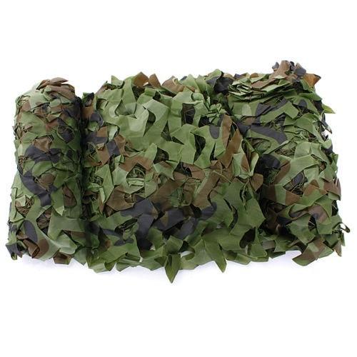 7m X 1.5m Woodland Camouflage Net Shooting Hide Army Net Hunting Camo Netting