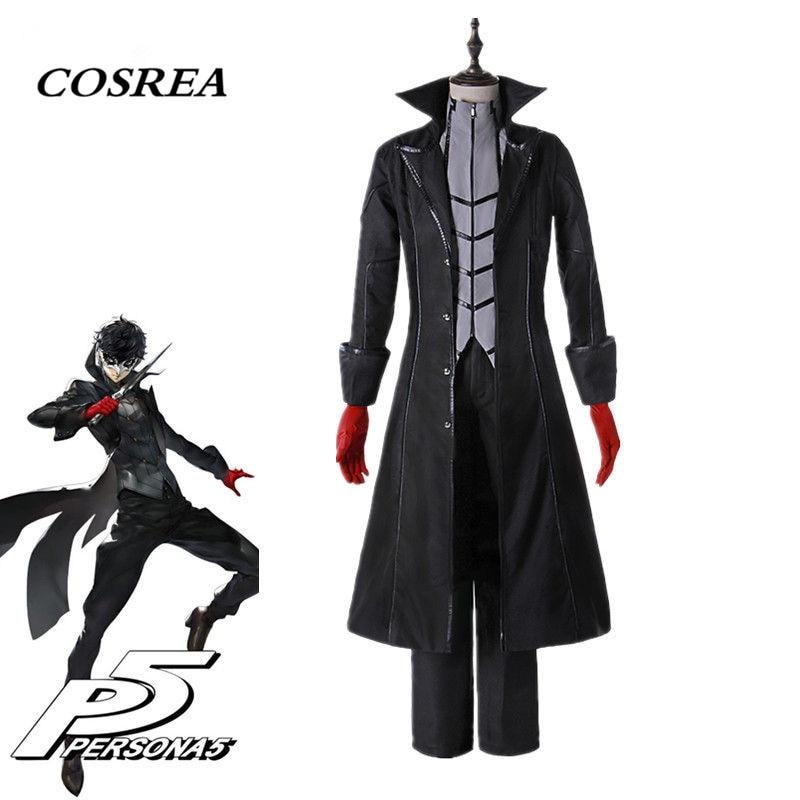 COSREA Anime Persona 5 JOKER Cosplay Costumes Akira Kurusu Ren Amamiya Jackets Uniform School Suit Outfit For Adult Men Boy