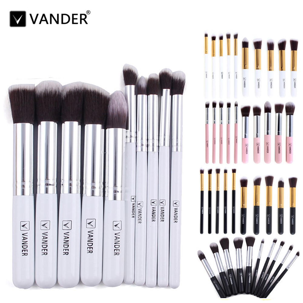 Vanderlife Pro 10pcs Makeup Brushes Set Cosmetic Eyeshadow Powder Foundation Blending Blush Lip Beauty Tools Kit Make-up Pinsel 15 pcs professional makeup brushes set power foundation eyeshadow blush blending make up beauty cosmetic tools kits hot