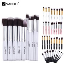 Vanderlife Pro 10pcs Makeup Brushes Set Cosmetic Eyeshadow Powder Foundation Blending Blush Lip Beauty Tools Kit Make-up Pinsel