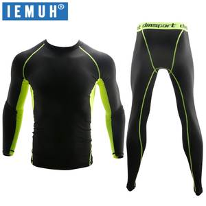IEMUH Underwear Fitness Long-Johns Winter Warm Anti-Microbial New Stretch Quick-Dry Men
