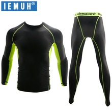 IEMUH New Winter Thermal Underwear Sets Men Quick Dry Anti-microbial Stretch Mens Thermo Underwear Male Warm Long Johns Fitness cheap S M L XL XXL XXXL Polyester Blends Spandex Microfiber Polyester Thermal Quick Dry Breathable Anti-microbial Fitness running basketball Outdoors Sport Skiing