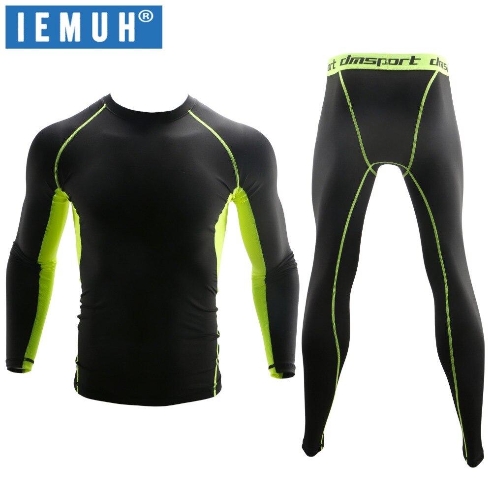 IEMUH nueva ropa interior térmica de invierno establece hombres de secado rápido Antimicrobial estiramiento hombres termo ropa interior hombre cálido largo Johns Fitness