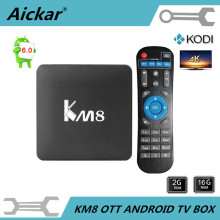 Lo nuevo KM8 S905X OTT Android 6.0 TV Box Amlogic Quad Core 2G/16G KODI 17.0 bits HDMI 1080 P WiFi Smart 4 K DLNA IPTV Set Top caja