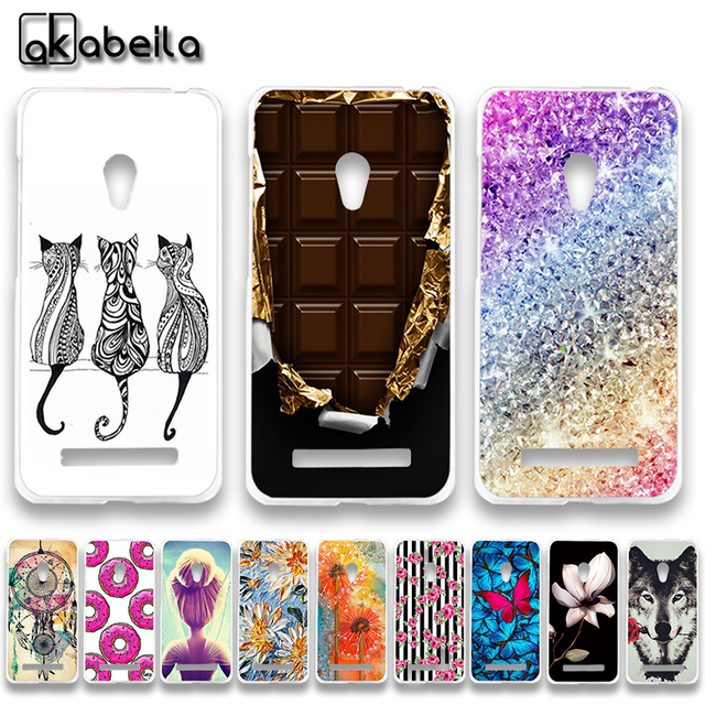 AKABEILA Soft TPU Plastic Phone Cases For Asus Zenfone 5 ASUS_T00J (A501CG) A500CG A500KL ZenFone5 5.0 inch Covers Nutella Bags