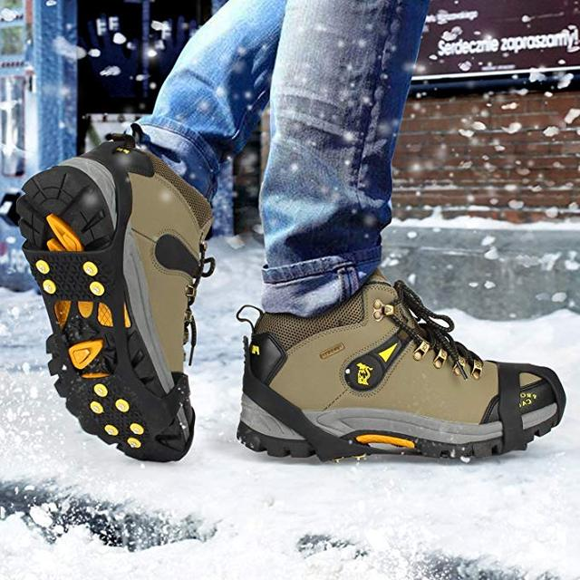 d47d0e6e8e1 Ice Grips Snow Grips Cleat Over Shoe Boot Traction Cleat Rubber Spikes Anti  Slip 10 Studs Crampons Slip-on Stretch Footwear
