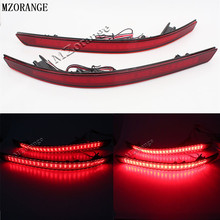 Car Accessories For Kia Optima K5 2011 2012 2013 Red Brake Tail Light LED Red Rear Bumper Reflector Lights Warning Stop Tail Fog