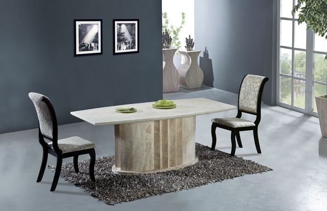 Natural Travertine Dining Table Set High Quality Store Marble Furniture Best Home