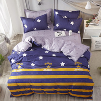 Home Decor Bedding Sets B Star Clouds Plaid Twin/full/queen/king size Duvet Cover Sheet Pillowcase Bed Linen Bedclothes
