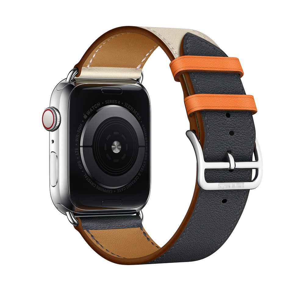 CRESTED correa de cuero para apple watch banda 42/38/44/40mm iwatch serie 4 3 2 1 correa simple tour cinturón reloj Accesorios