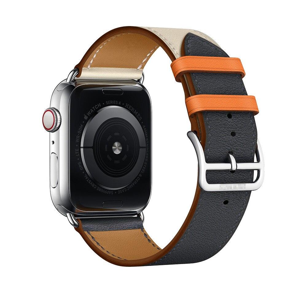 CRESTED lederband für apple watch band 42/38/44/40mm iwatch serie 4 3 2 1 armband einzel tour gürtel uhr zubehör