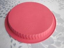 100% silicona gran tamaño pie pan, molde de pan, forma redonda, LFGB prueba envío gratis