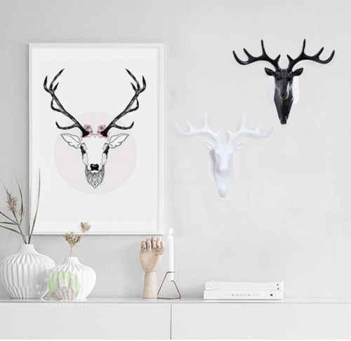Di marca di trasporto del Nuovo Creativo Americano gancio testa di cervo di modellazione decorazione della parete gancio di aspirazione tazza di soggiorno camera da letto cappotto ganci chiave