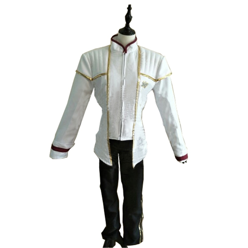 2017 Star Trek Captain Picard Cosplay Costume White Uniform picard портмоне picard 8828 043 055 cafe