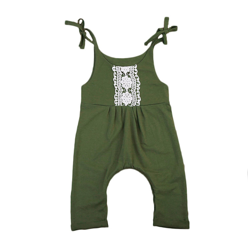 Pudcoco Cute Summer Newborn Toddler Baby Girls Sleeveless Belt Floral Romper Jumpsuit Outfits Sunsuit Clothes Green Playuit puseky 2017 infant romper baby boys girls jumpsuit newborn bebe clothing hooded toddler baby clothes cute panda romper costumes
