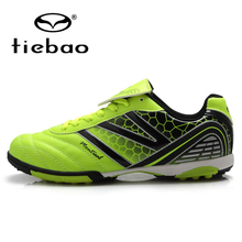 TIEBAO Professional Children Kids TF Turf Rubber Soles Football Boots Outdoor Sport Sneakers Boys Girls Soccer Shoes EUR 32-38