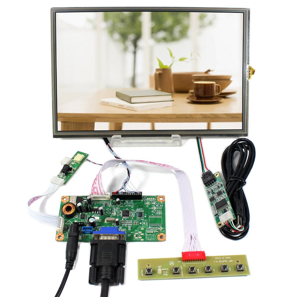 VGA LCD Controller Board RT2270+10.1 B101UAN02.1 1920X1200 AHAV LCD With Resistive Touch Panel