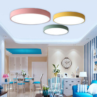 Ceiling Nordic Round Led Acrylic Creative Macarons Luminaria Led Teto Living Room Kids Room Home Decoration