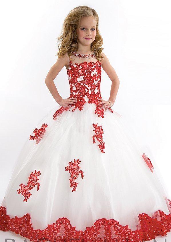 Новое поступление года; Великолепное Кружевное Пышное красивое платье из органзы с бусинами и кристаллами для маленьких девочек; Платья с цветочным узором - Цвет: Белый