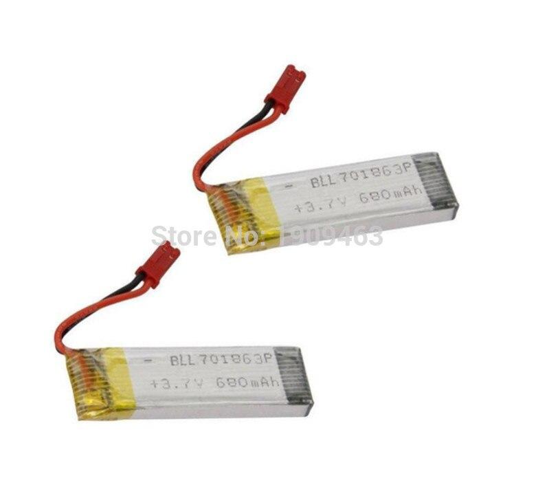 2 шт. UDI U817A U818A U818 V959 V929 V222 S032 H07N H07NC H07NL grc <font><b>Quadricopter</b></font> запасных Запчасти Батарея (3.7 В 680 мАч) Бесплатная доставка
