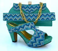 AQUA Color Sandals Shoes For Women African Shoes And Matching Bags Italian Matching Shoe And Bag