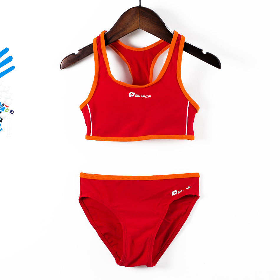 Girls Sports Swimsuits 4-14y Split Sporting Swimming Suits Professional Tankini Suit Children Training Swimwear G47-K564