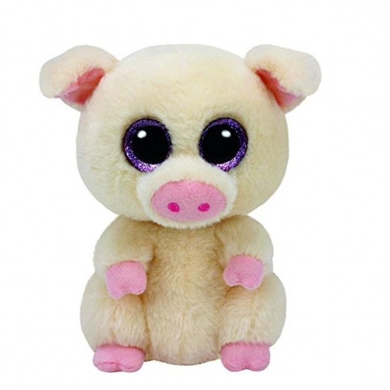 6'' 15cm Ty Beanie Boos Stuffed Animals & Plush Pig Toys Big Eyes Kawaii Gift for Baby Girls Boys Birthday Present tumama 20cm moana pua pig anime plush toys kids gift stuffed animals plush cute softy pig doll kawaii plush
