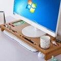 Monitor de Soporte de MADERA DE bambú de Lujo Vertical, de bambú de Almacenamiento de Escritorio de Oficina Organizador