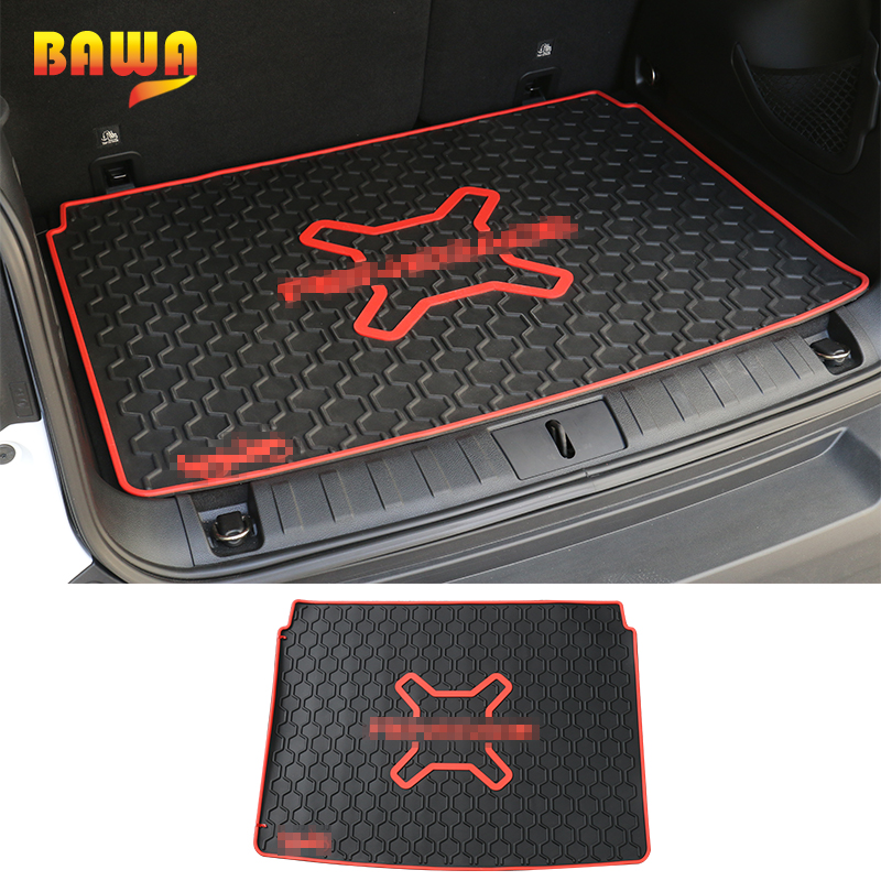 BAWA Cargo Liner Trunk Mats For Jeep Renegade 2016+ Car Rear Trunk Waterproof Protective Pads For Renegade Interior Accessories