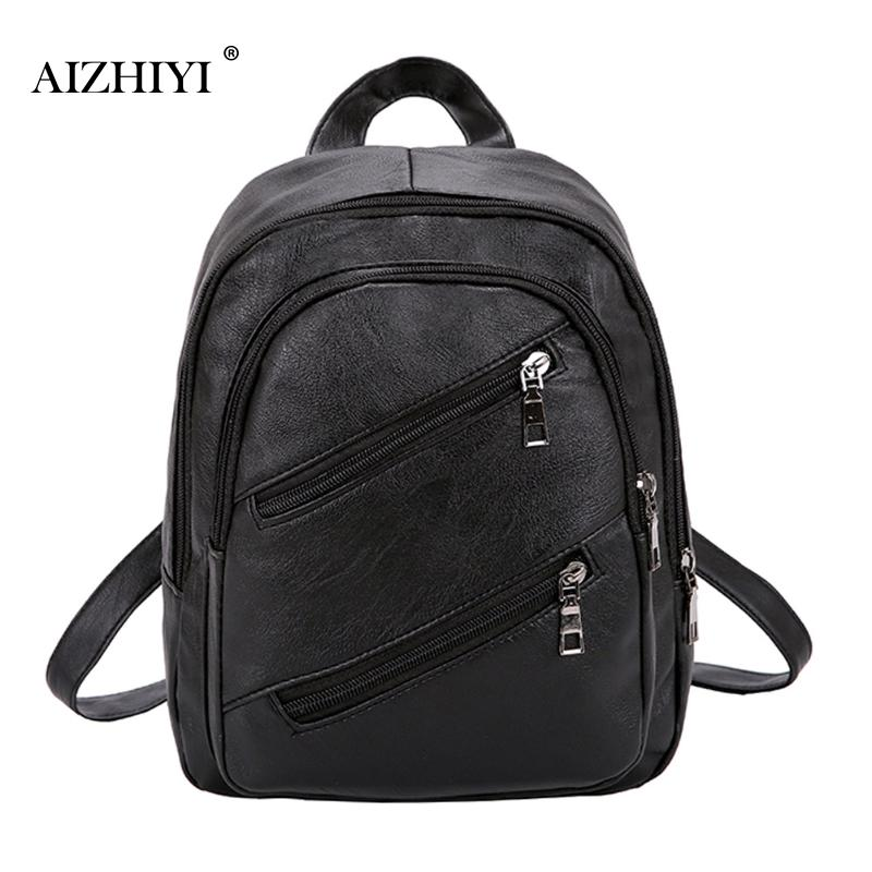 все цены на Fashion Leisure Women Backpacks Women's Soft PU Leather Backpacks Female school Shoulder Bags for Teenage Girls Travel Backpack