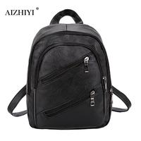 Fashion Leisure Women Backpacks Women S Soft PU Leather Backpacks Female School Shoulder Bags For Teenage