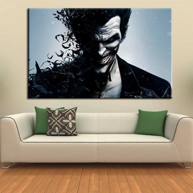 wall art canvas movie poster batman joker poster print on ...