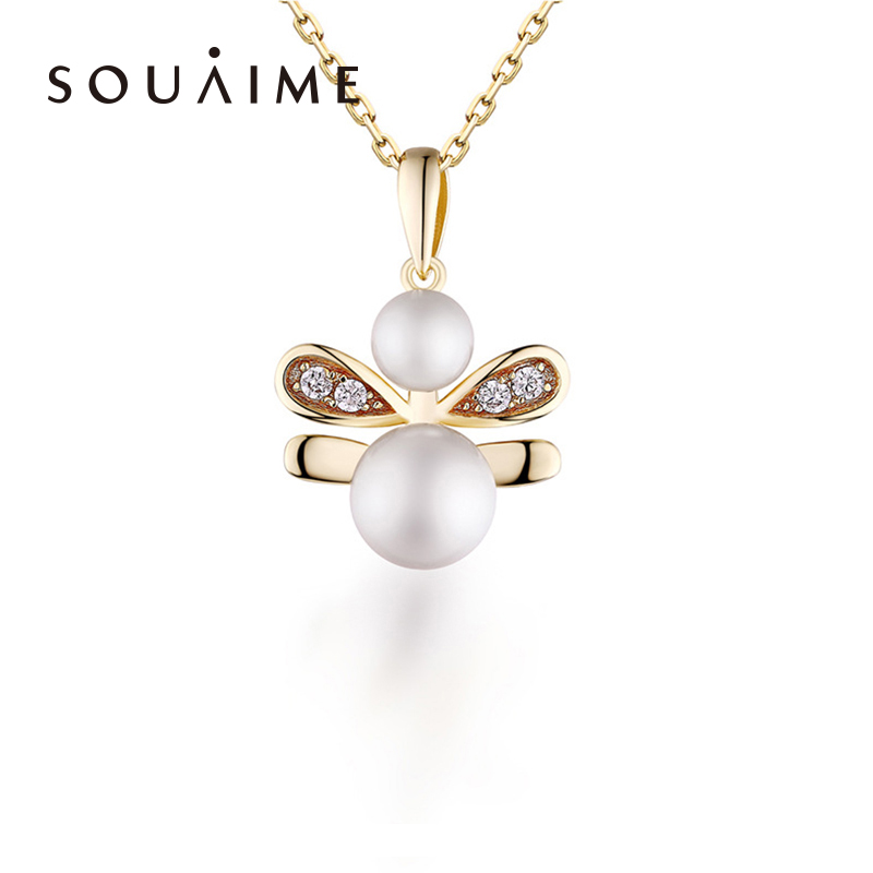 2018 New Top Fashion Insect 925 Pearl Pendant Jewelry Necklace Sterling-silver-jewelry For Women Hypoallergenic Fine
