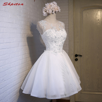 White 8th Grade Short Prom Dresses Fast Delivery Party Dresses for Graduation vestidos de formatura  festa curto gala jurken