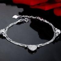 Jemmin Valentine S Day Gift White Diamond 925 Sterling Silver Beads Bracelets Fine Woman Jewelry Bangle