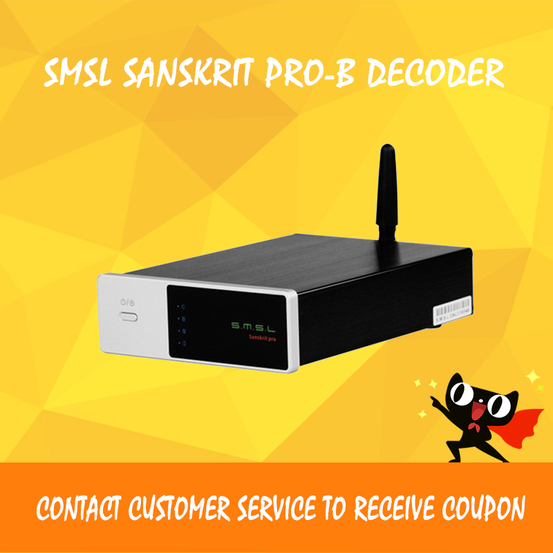 ASD SMSL Sanskrit PRO-B Hifi Digital Audio Bluetooth 4.0 Decoder 32Bit/384Khz DSD USB/Coaxial/Optial DAC CM6632A+AK4490EQ new version smsl latest 6th sanskrit 32bit 192khz coaxial spdif optical usb dac hifi audio amplifier decoder with power adapter